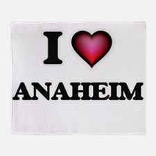 I love Anaheim California Throw Blanket
