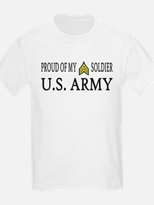 SGT - E5 - Proud of my soldier Kids T-Shirt