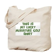 Lucky Miniature Golf Tote Bag