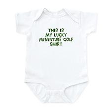 Lucky Miniature Golf Infant Bodysuit