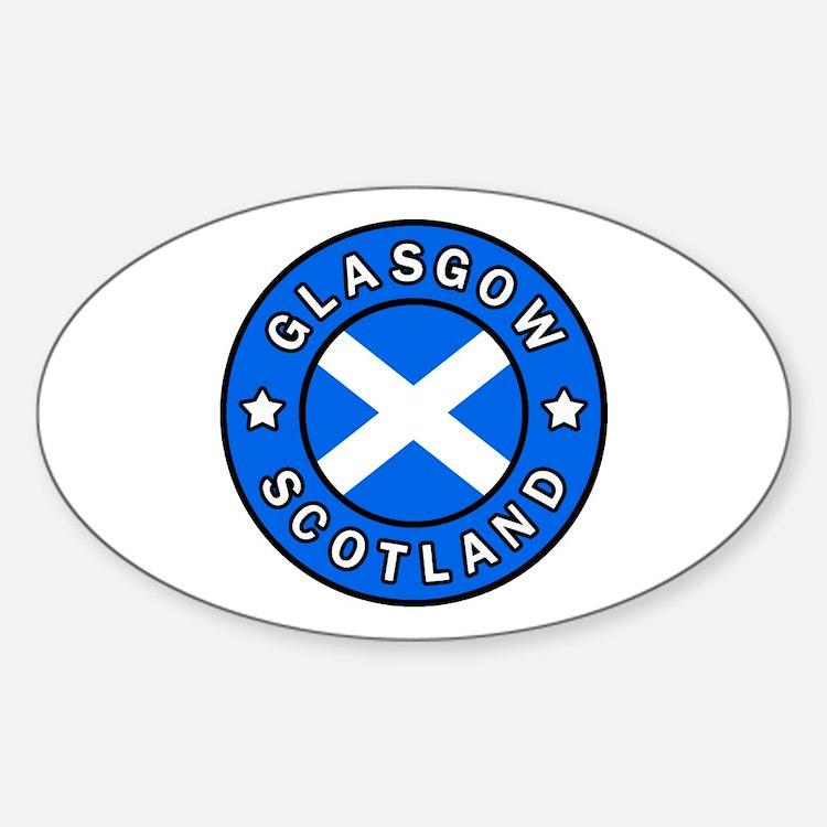 Cute Glasgow Sticker (Oval)