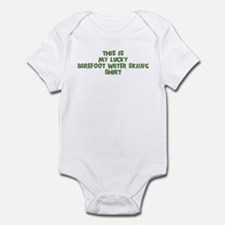 Lucky Barefoot Water Skiing Infant Bodysuit