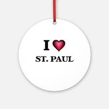 I love St. Paul Minnesota Round Ornament