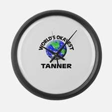 World's Okayest Tanner Large Wall Clock