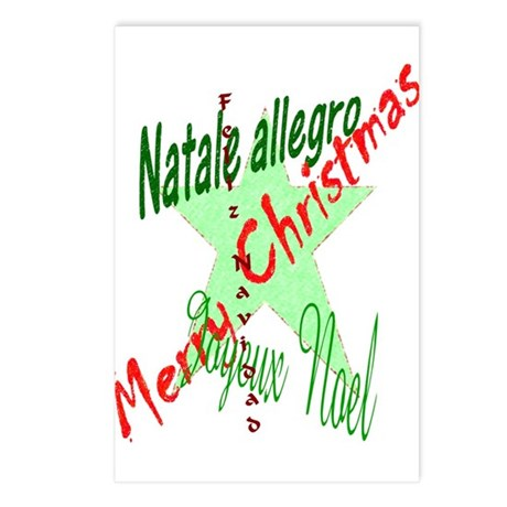 Christmas Languages Postcards (Package of 8)