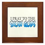 Snow Gods Framed Tile