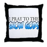 Snow Gods Throw Pillow