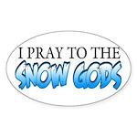 Snow Gods Oval Sticker