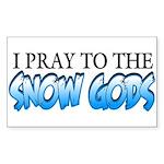 Snow Gods Rectangle Sticker