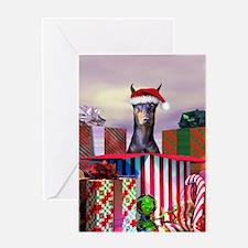 Doberman Christmas Greeting Card