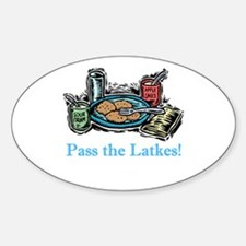 Pass the Latkes Oval Decal