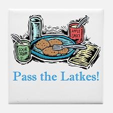 Pass the Latkes Tile Coaster