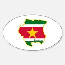 Cool Suriname Oval Decal