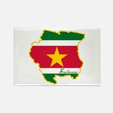 Cool Suriname Rectangle Magnet