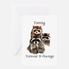 Family Forever Always Quote Waterc Greeting Cards