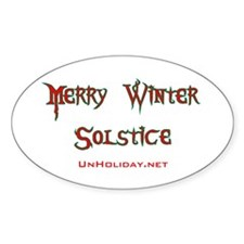 Merry Winter Solstice 01 Oval Decal