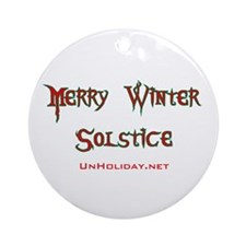 Merry Winter Solstice 01 Ornament (Round)