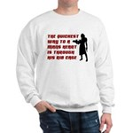 Funny Man Hater slogan on womens Sweatshirt