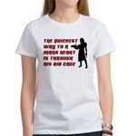 Funny Man Hater slogan on womens Women's T-Shirt