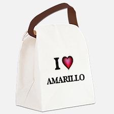 I love Amarillo Texas Canvas Lunch Bag