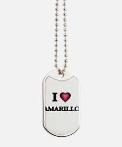 I love Amarillo Texas Dog Tags