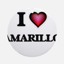 I love Amarillo Texas Round Ornament