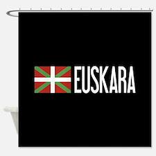 Basque Country: Basque Flag & Euska Shower Curtain