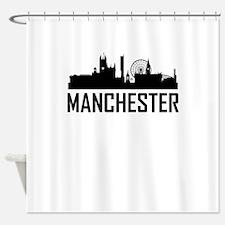Skyline of Manchester England Shower Curtain