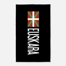 Basque Country: Basque Flag & Euskara Area Rug