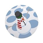 Bliz the Snowman Dotted Ornament (Round)