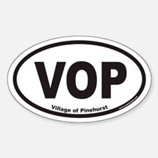 Village of Pinehurst VOP Euro Oval Decal