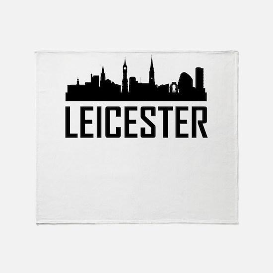 Skyline of Leicester England Throw Blanket