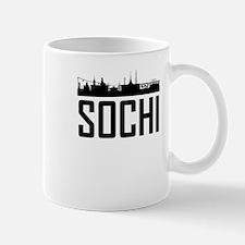 Skyline of Sochi Russia Mugs