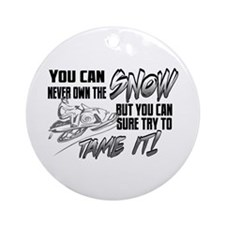 Tame the Snow Ornament (Round)