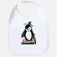 Yin Yang Penguin Bib