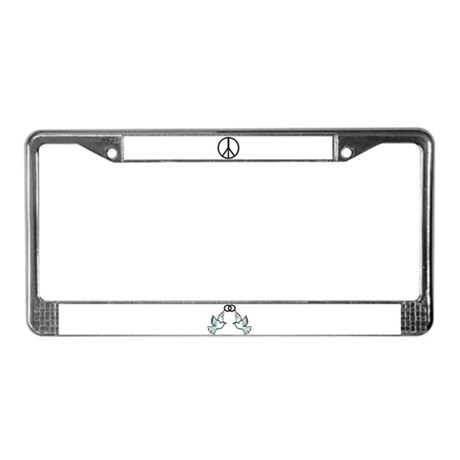 Designer Peace dove License Plate Frame