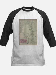 Vintage Map of Southampton New Yor Baseball Jersey