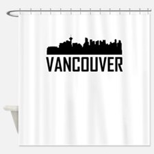 Skyline of Vancouver BC Shower Curtain