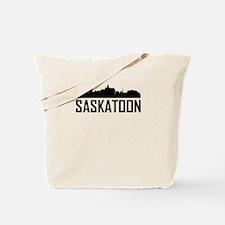 Skyline of Saskatoon SK Tote Bag