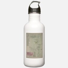 Vintage Map of Southam Water Bottle