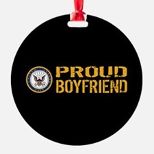 U.S. Navy: Proud Boyfriend (Black) Ornament