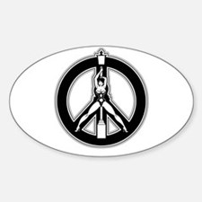 Sexy Peace Oval Decal