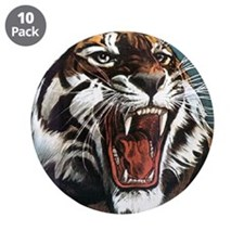 """Tiger Roaring 3.5"""" Button (10 pack)"""