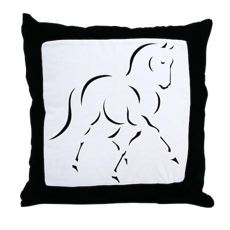 Elegant Horse Throw Pillow