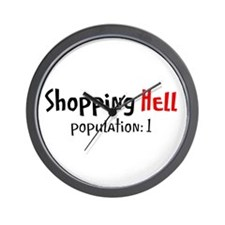 Shopping Hell on Wall Clock