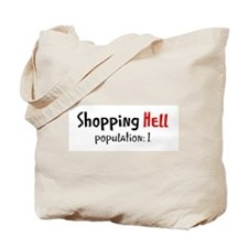 Shopping Hell on Tote Bag