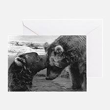 Bear Forehead Kiss Greeting Card