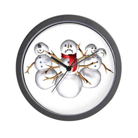 Snow Monsters Wall Clock