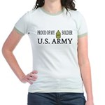 1SG - Proud of my soldier Jr. Ringer T-Shirt