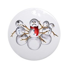 Snow Monsters Ornament (Round)